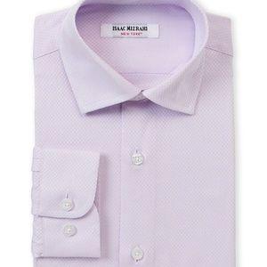 Isaac Mizrahi Lavendar Textured Button Down Shirt